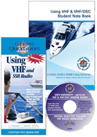 Using VHF and VHF/DSC Marine Radio course book cover CD and marketing material