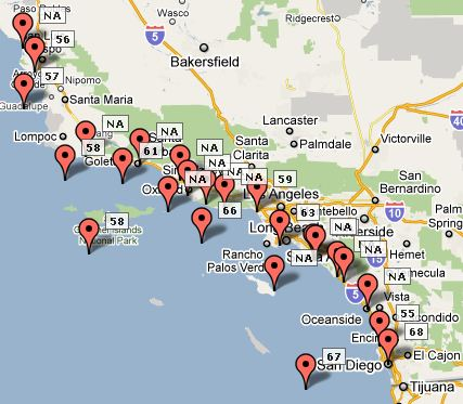 map of southern california coastline with Currentconditions on Visit likewise Surfing San Luis Obispo as well Currentconditions moreover Landslide Partially Closes Pacific Coast Highway N furthermore La Jolla Cove Beach.